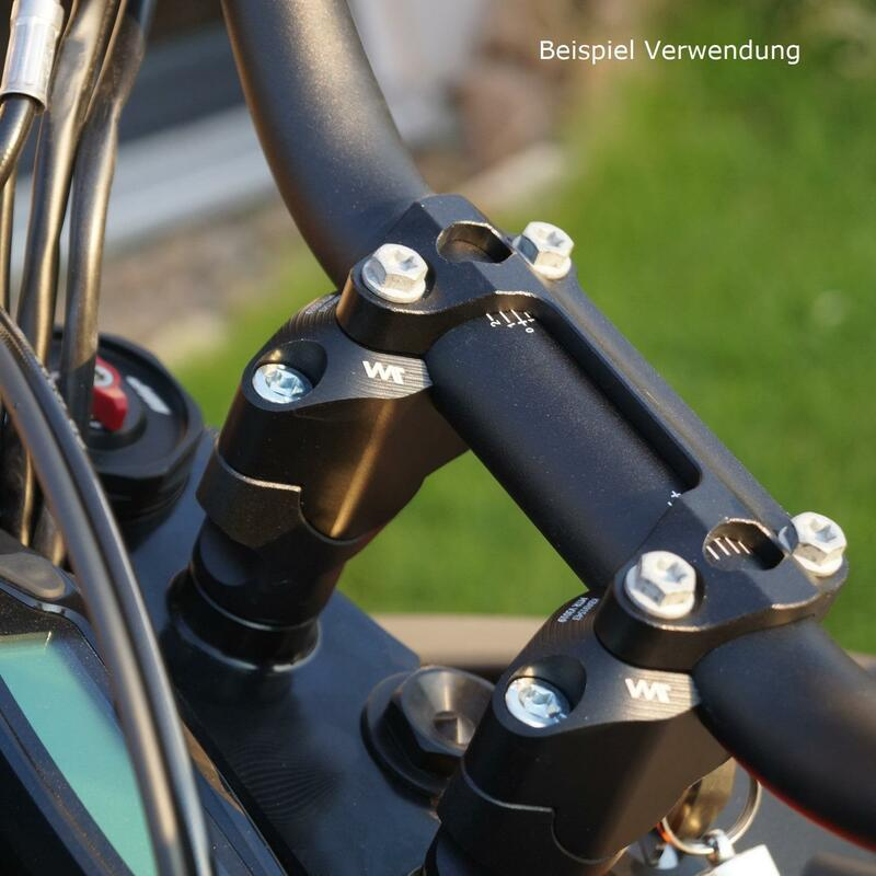 Handlebar risers 30mm with offset 19mm for KTM 1050 Adventure 14-16