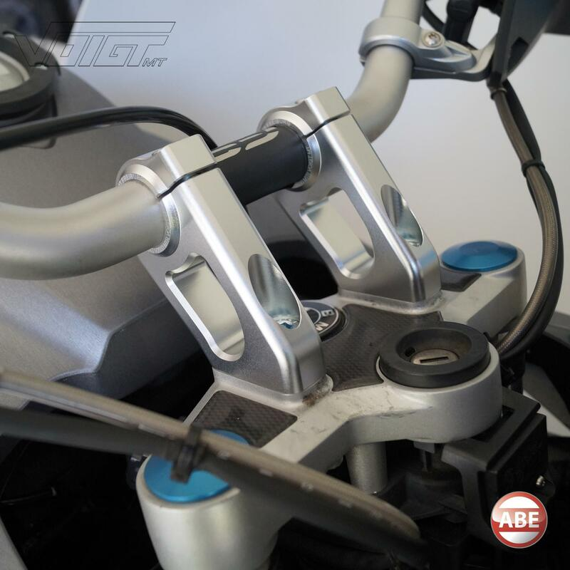 Handlebar risers 20mm high & 30mm offset for BMW R 1200 GS Adventure (R12) 08-12