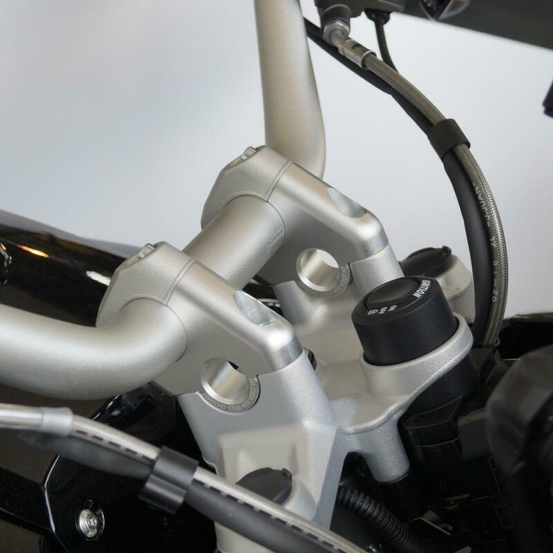 Handlebar risers with offset 30mm high and 24mm closer for new BMW R1250GS and Adventure